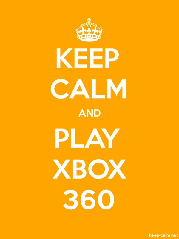 KEEP CALM AND PLAY XBOX 360 - white/orange - Default (600x800)