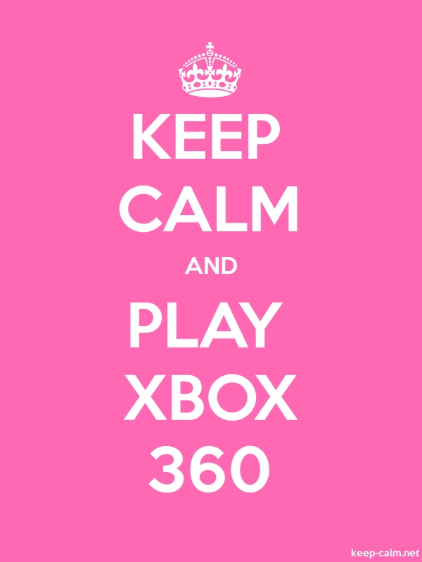 KEEP CALM AND PLAY XBOX 360 - white/pink - Default (600x800)