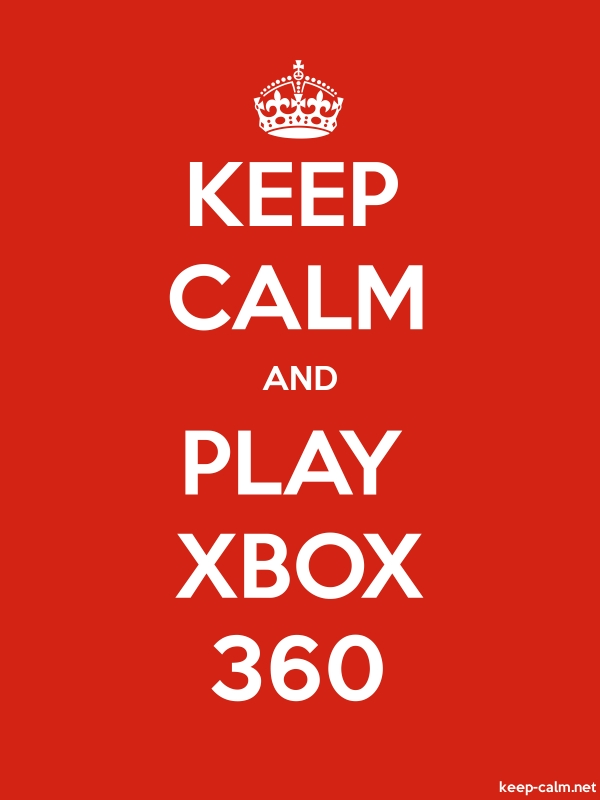 KEEP CALM AND PLAY XBOX 360 - white/red - Default (600x800)