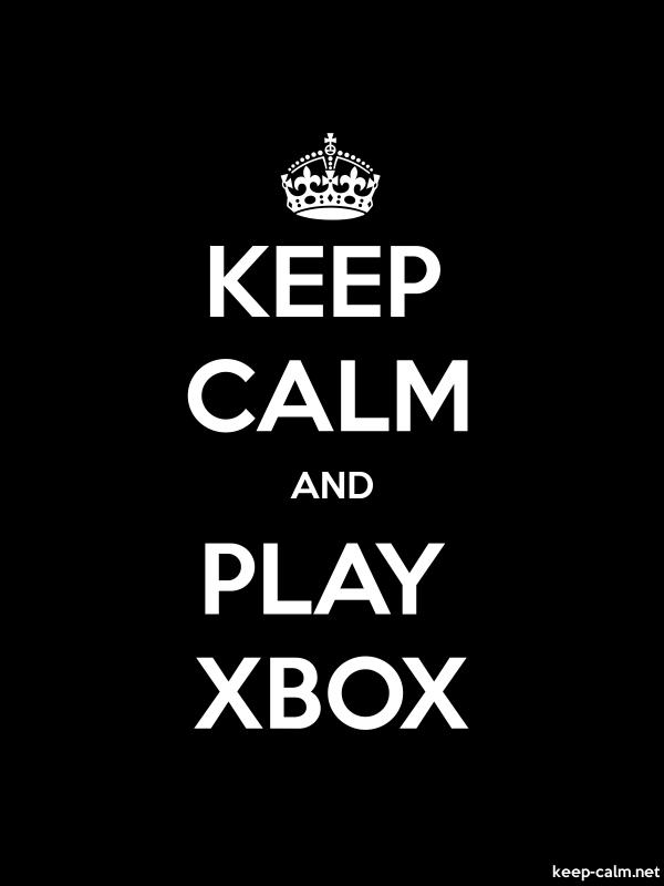 KEEP CALM AND PLAY XBOX - white/black - Default (600x800)