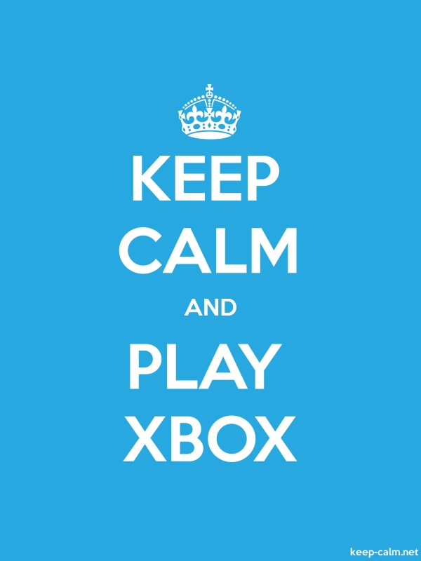 KEEP CALM AND PLAY XBOX - white/blue - Default (600x800)