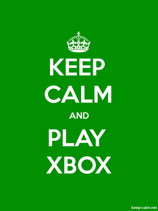 KEEP CALM AND PLAY XBOX - white/green - Default (600x800)