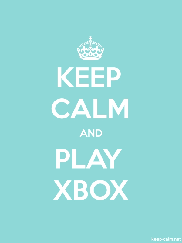 KEEP CALM AND PLAY XBOX - white/lightblue - Default (600x800)