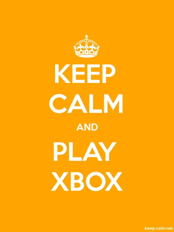 KEEP CALM AND PLAY XBOX - white/orange - Default (600x800)