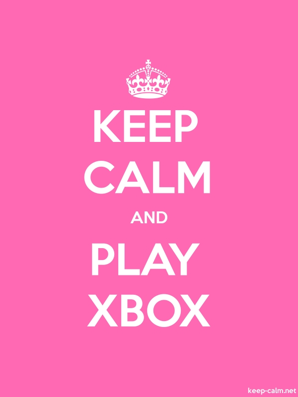 KEEP CALM AND PLAY XBOX - white/pink - Default (600x800)