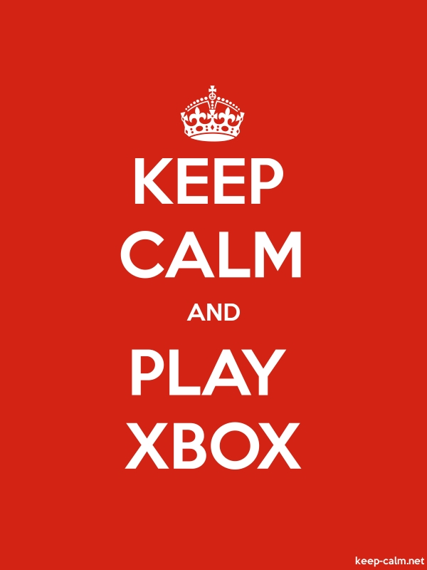 KEEP CALM AND PLAY XBOX - white/red - Default (600x800)