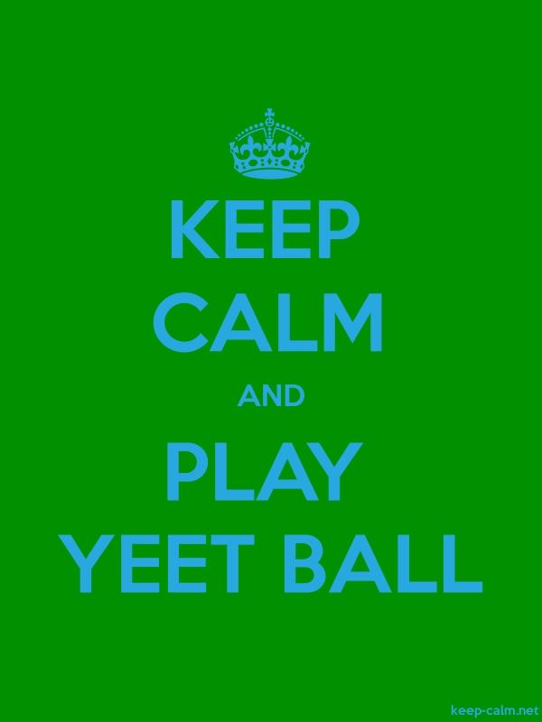 KEEP CALM AND PLAY YEET BALL - blue/green - Default (600x800)