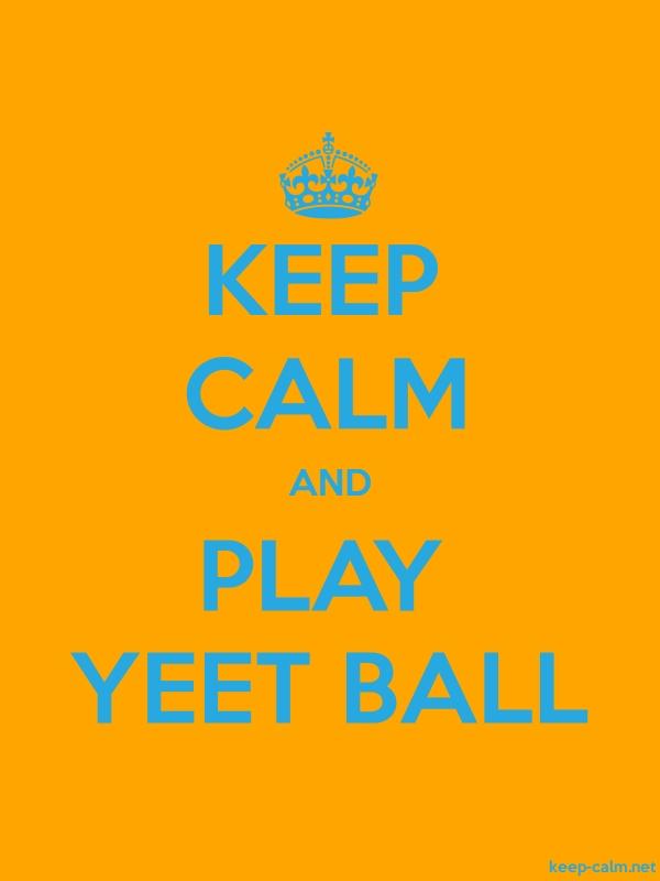 KEEP CALM AND PLAY YEET BALL - blue/orange - Default (600x800)