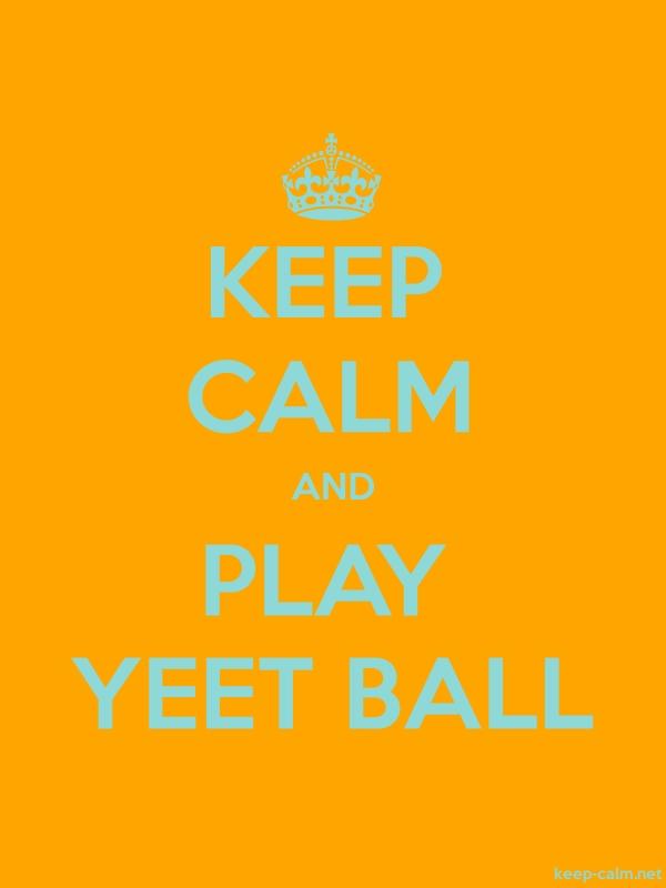 KEEP CALM AND PLAY YEET BALL - lightblue/orange - Default (600x800)