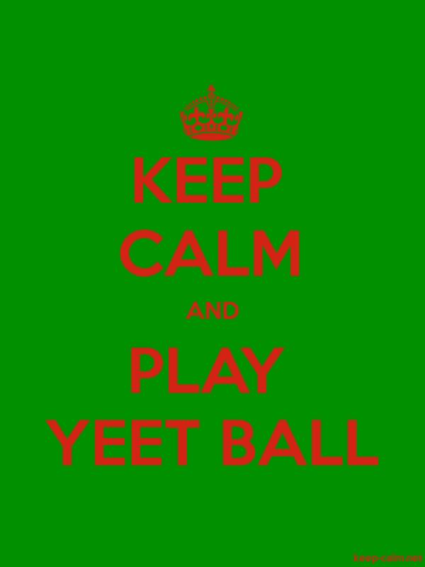 KEEP CALM AND PLAY YEET BALL - red/green - Default (600x800)