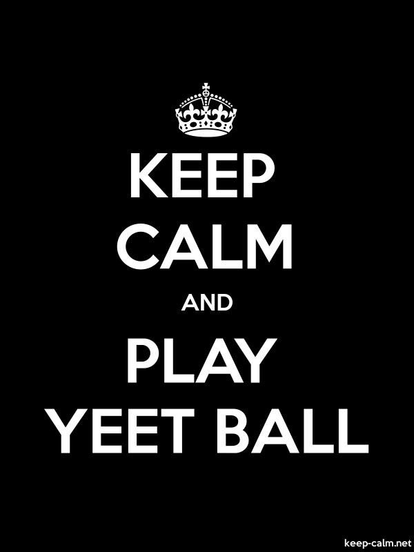 KEEP CALM AND PLAY YEET BALL - white/black - Default (600x800)