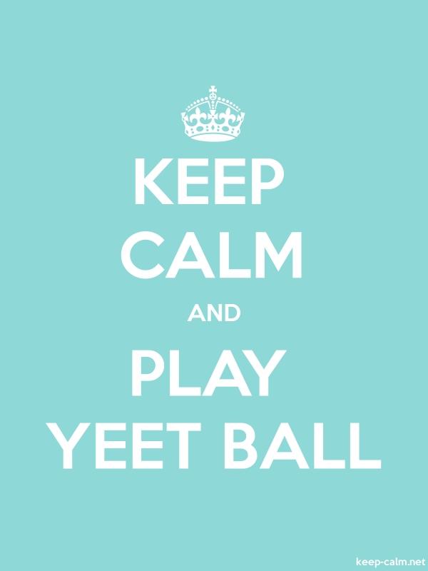 KEEP CALM AND PLAY YEET BALL - white/lightblue - Default (600x800)