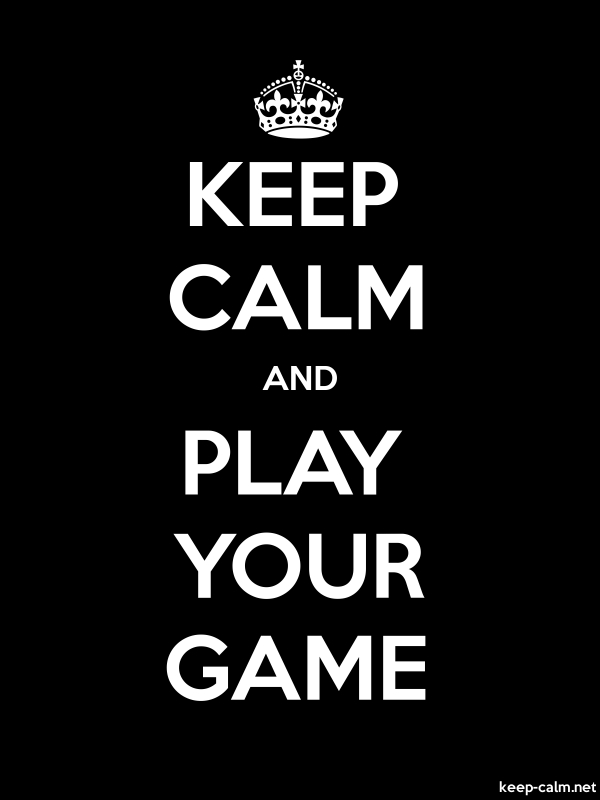 KEEP CALM AND PLAY YOUR GAME - white/black - Default (600x800)