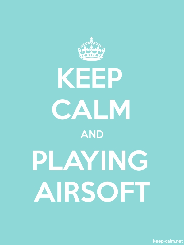 KEEP CALM AND PLAYING AIRSOFT - white/lightblue - Default (600x800)