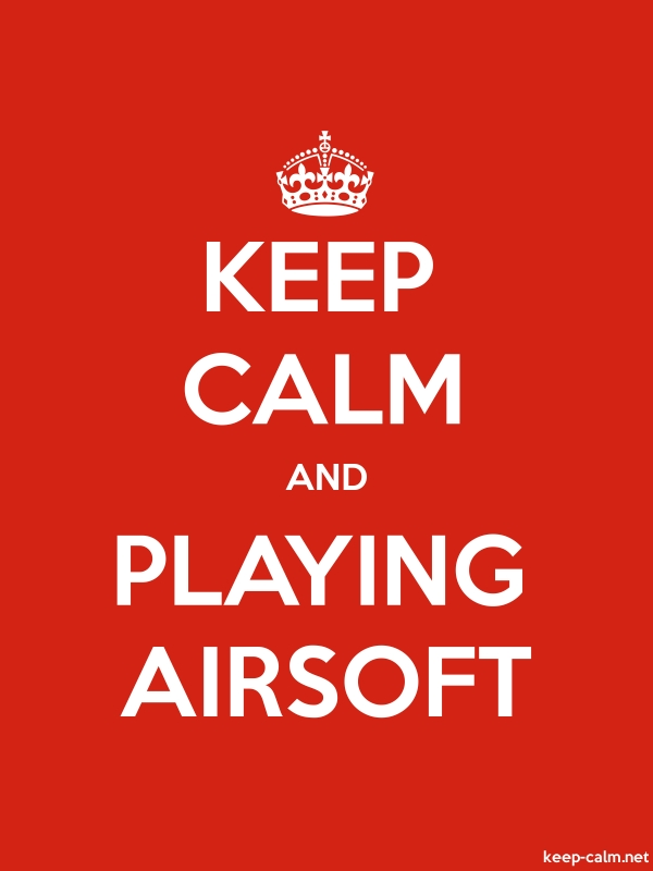 KEEP CALM AND PLAYING AIRSOFT - white/red - Default (600x800)
