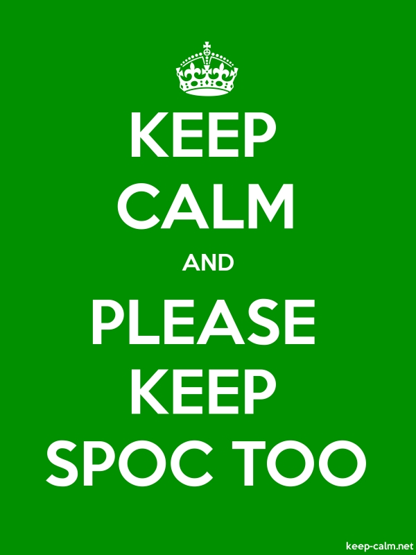 KEEP CALM AND PLEASE KEEP SPOC TOO - white/green - Default (600x800)