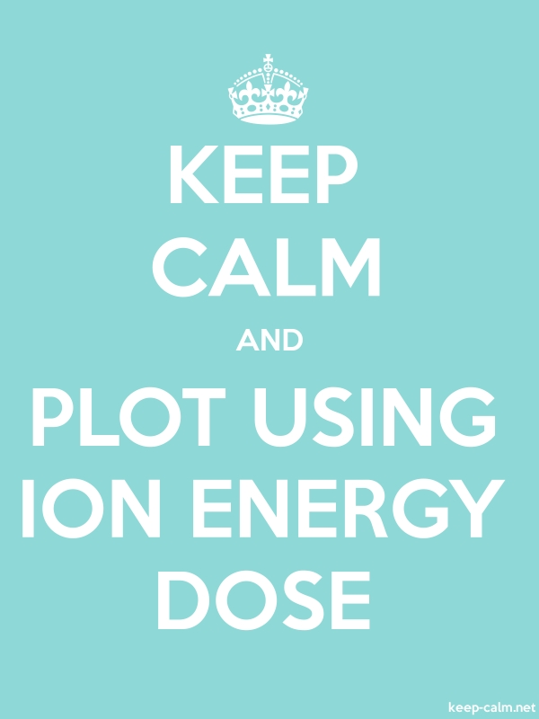 KEEP CALM AND PLOT USING ION ENERGY DOSE - white/lightblue - Default (600x800)