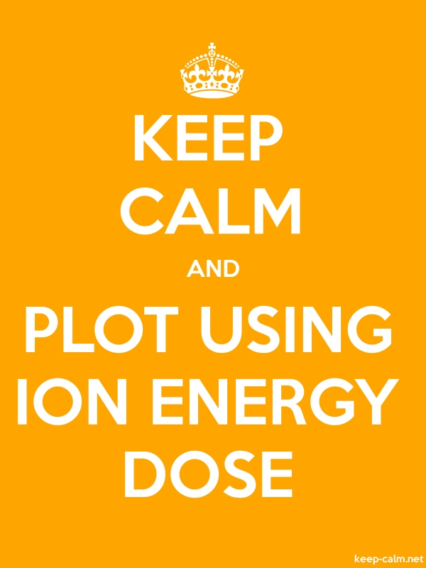 KEEP CALM AND PLOT USING ION ENERGY DOSE - white/orange - Default (600x800)