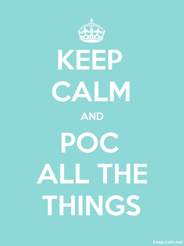 KEEP CALM AND POC ALL THE THINGS - white/lightblue - Default (600x800)