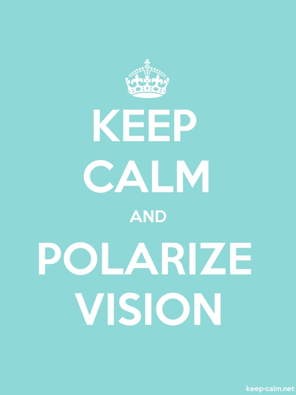KEEP CALM AND POLARIZE VISION - white/lightblue - Default (600x800)