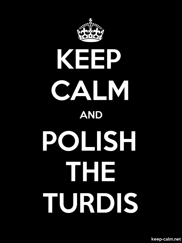KEEP CALM AND POLISH THE TURDIS - white/black - Default (600x800)