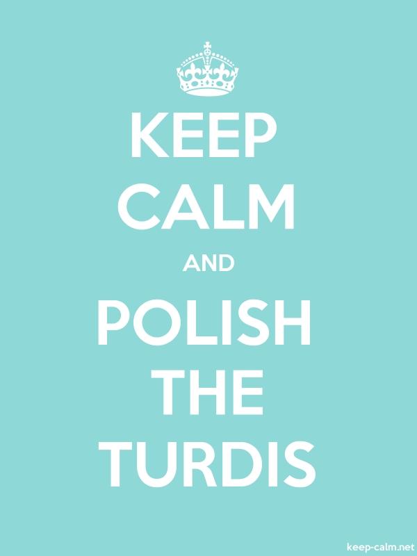 KEEP CALM AND POLISH THE TURDIS - white/lightblue - Default (600x800)