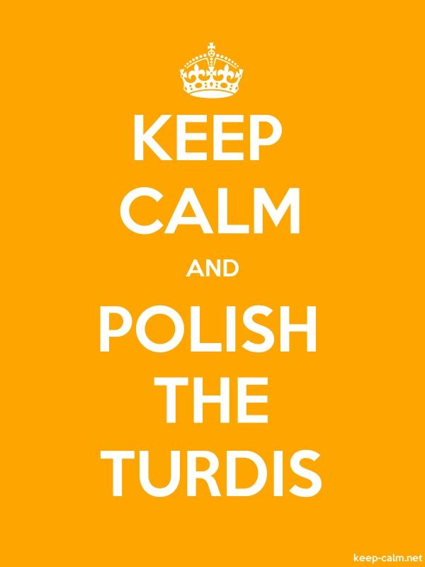 KEEP CALM AND POLISH THE TURDIS - white/orange - Default (600x800)