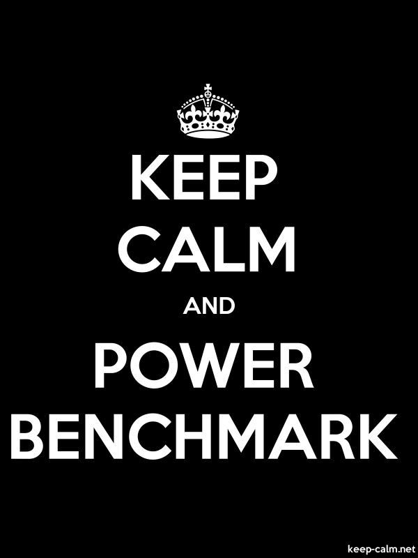 KEEP CALM AND POWER BENCHMARK - white/black - Default (600x800)