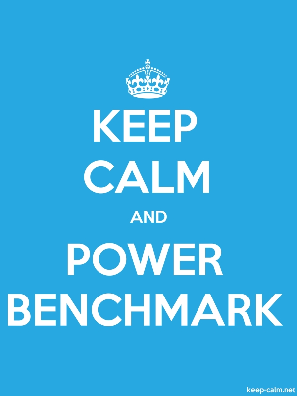 KEEP CALM AND POWER BENCHMARK - white/blue - Default (600x800)