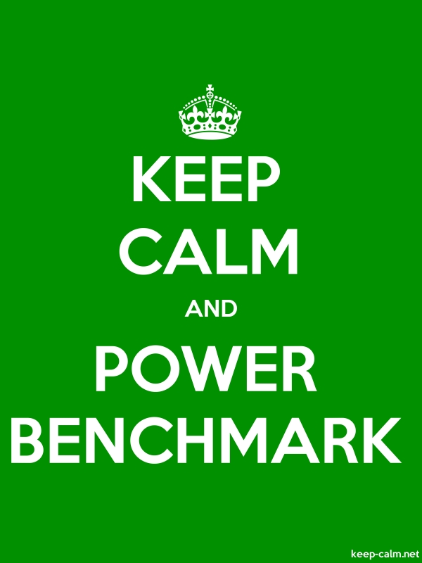 KEEP CALM AND POWER BENCHMARK - white/green - Default (600x800)