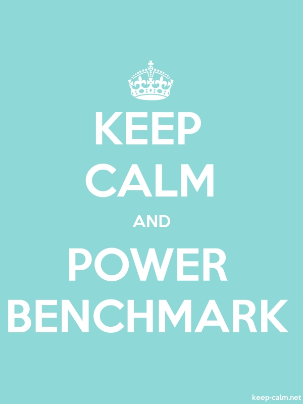 KEEP CALM AND POWER BENCHMARK - white/lightblue - Default (600x800)