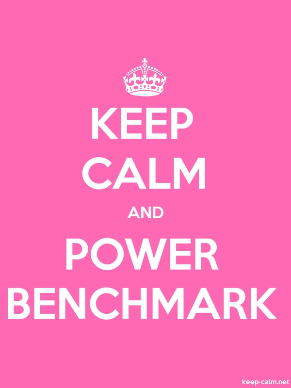 KEEP CALM AND POWER BENCHMARK - white/pink - Default (600x800)