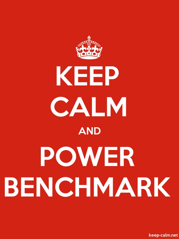 KEEP CALM AND POWER BENCHMARK - white/red - Default (600x800)