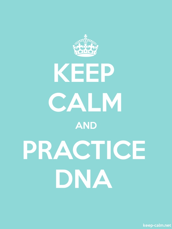 KEEP CALM AND PRACTICE DNA - white/lightblue - Default (600x800)