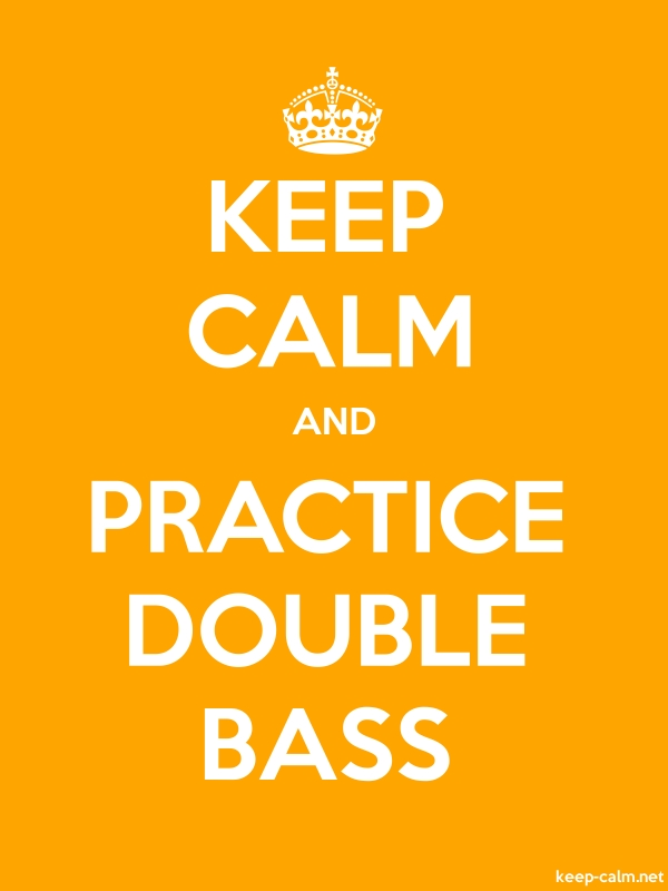 KEEP CALM AND PRACTICE DOUBLE BASS - white/orange - Default (600x800)