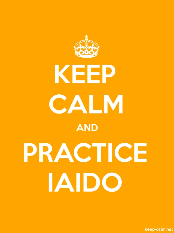 KEEP CALM AND PRACTICE IAIDO - white/orange - Default (600x800)