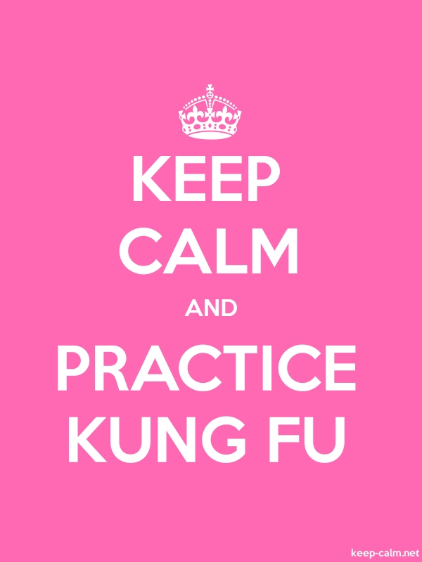 KEEP CALM AND PRACTICE KUNG FU - white/pink - Default (600x800)