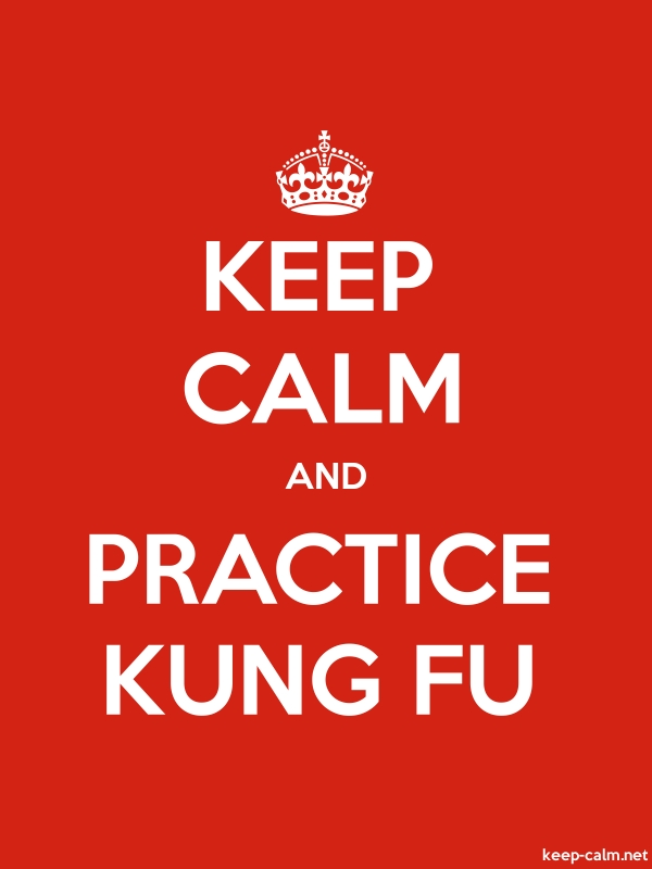 KEEP CALM AND PRACTICE KUNG FU - white/red - Default (600x800)