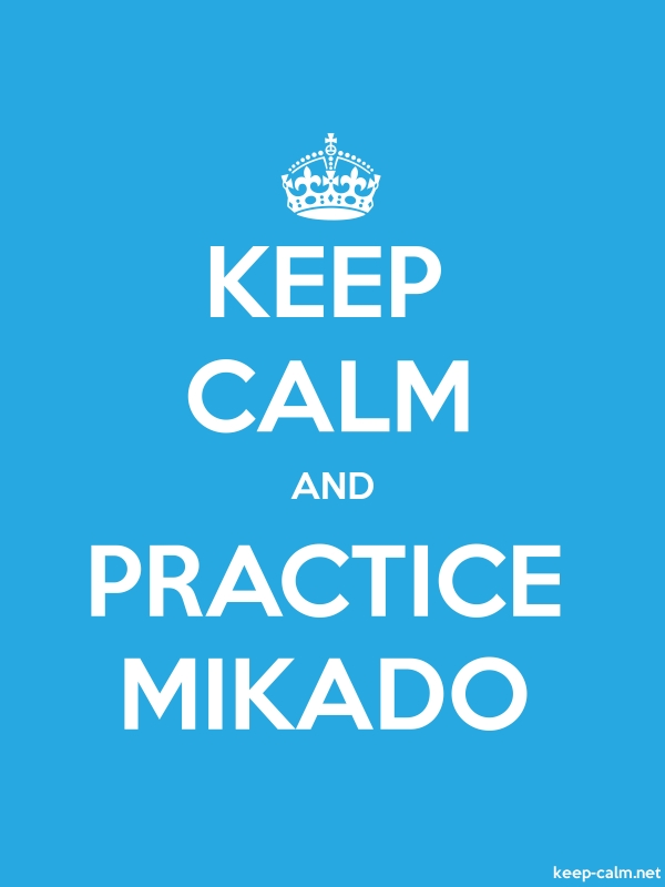KEEP CALM AND PRACTICE MIKADO - white/blue - Default (600x800)