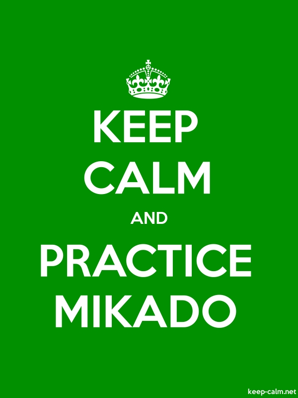 KEEP CALM AND PRACTICE MIKADO - white/green - Default (600x800)