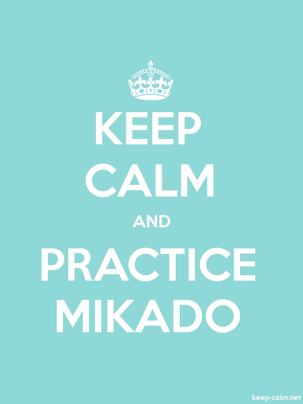 KEEP CALM AND PRACTICE MIKADO - white/lightblue - Default (600x800)