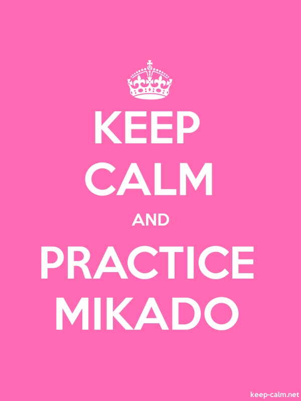 KEEP CALM AND PRACTICE MIKADO - white/pink - Default (600x800)