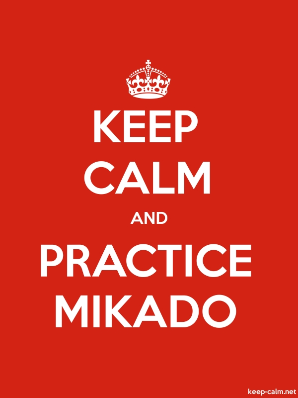 KEEP CALM AND PRACTICE MIKADO - white/red - Default (600x800)