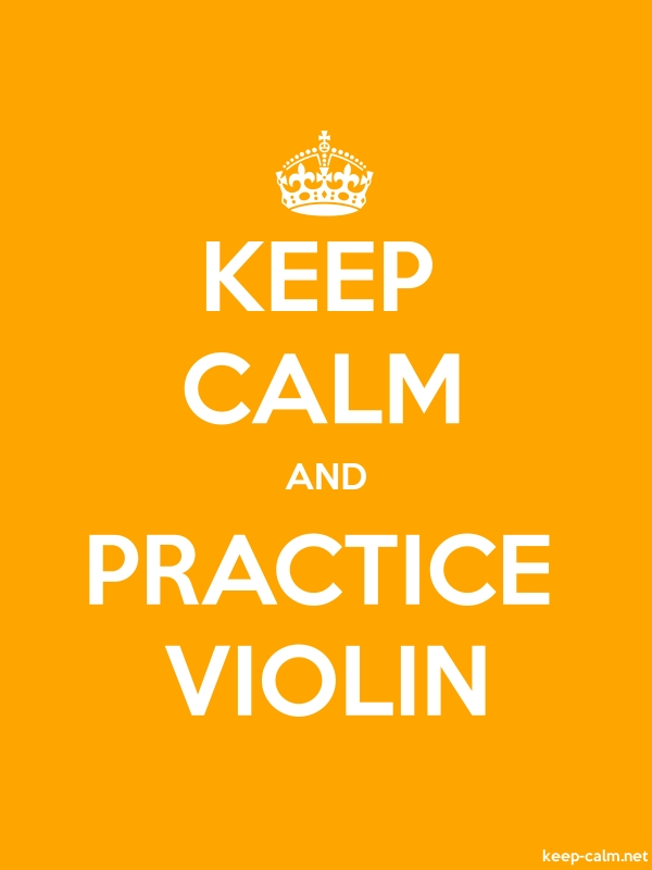 KEEP CALM AND PRACTICE VIOLIN - white/orange - Default (600x800)