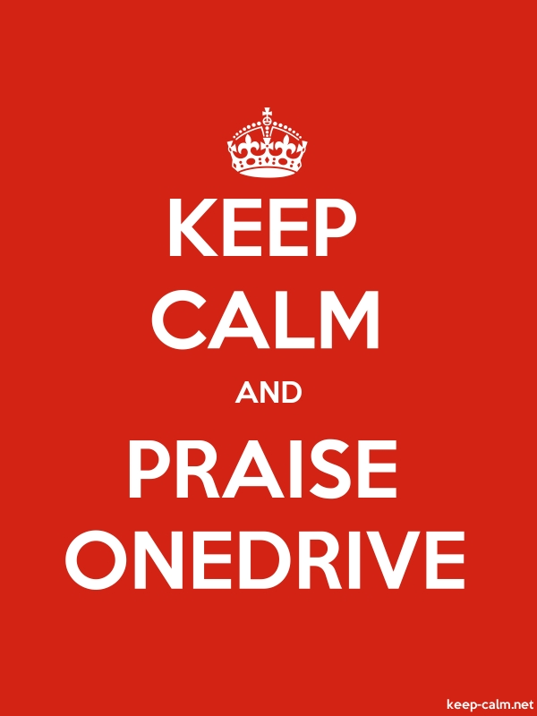 KEEP CALM AND PRAISE ONEDRIVE - white/red - Default (600x800)