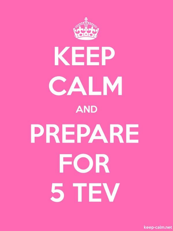 KEEP CALM AND PREPARE FOR 5 TEV - white/pink - Default (600x800)