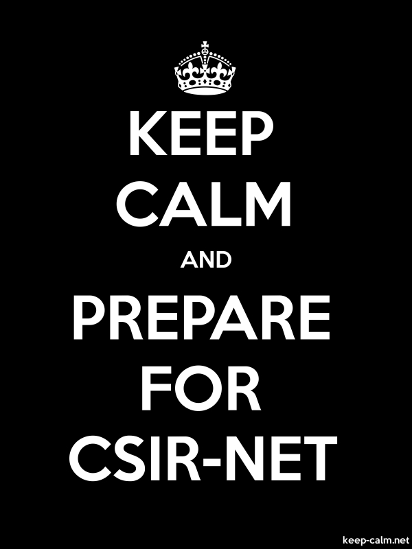 KEEP CALM AND PREPARE FOR CSIR-NET - white/black - Default (600x800)