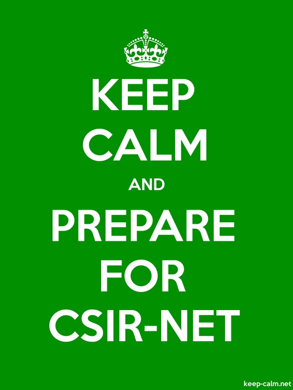 KEEP CALM AND PREPARE FOR CSIR-NET - white/green - Default (600x800)