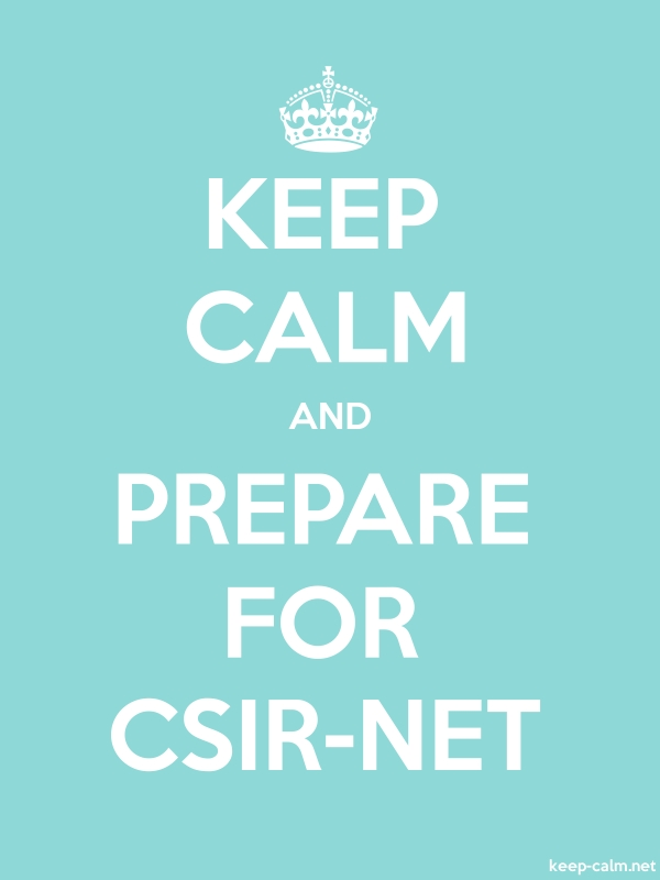 KEEP CALM AND PREPARE FOR CSIR-NET - white/lightblue - Default (600x800)