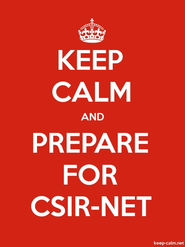KEEP CALM AND PREPARE FOR CSIR-NET - white/red - Default (600x800)